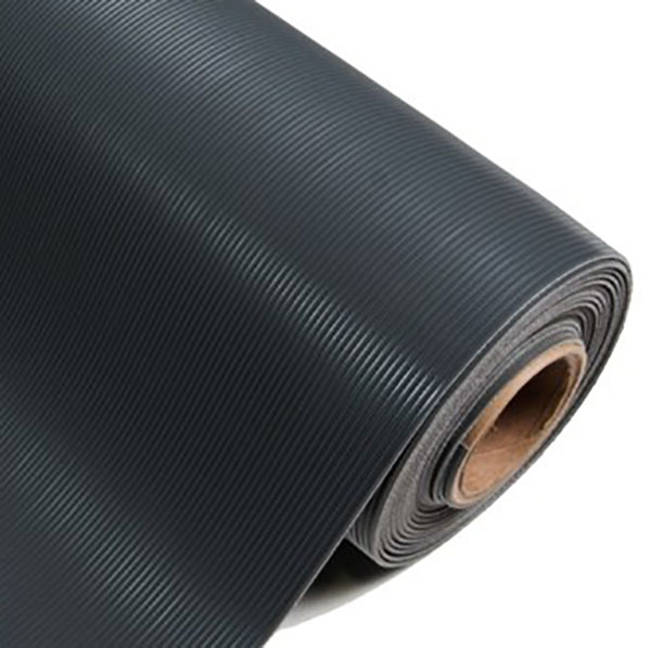 black corrugated matting