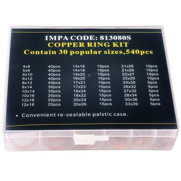 copper ring kit set 540pcs